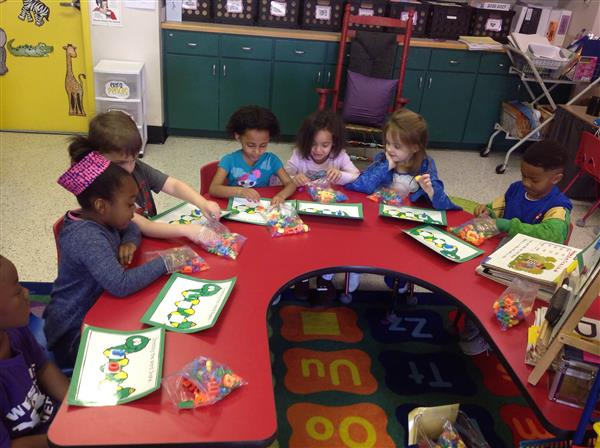 Students working on reading
