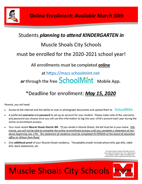 Flyer for Enrollment